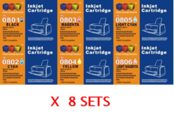 8 Sets x Epson Compatible T0801 - T0806(NO VAT on prices)