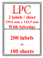 PDL-2s ( 2 labels per sheet )