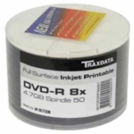 Traxdata Full Face White Inkjet Printable DVD-R 8x (600 pcs)(NO VAT on prices)